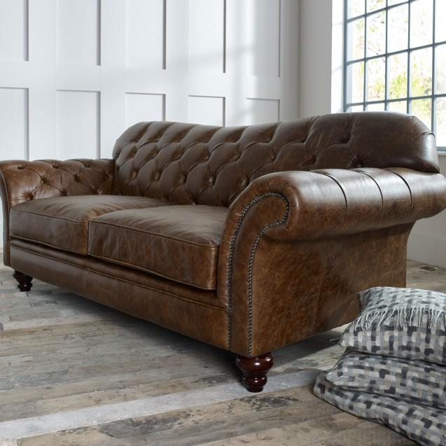 Chesterfield leather sofa sofas TKSIKDN