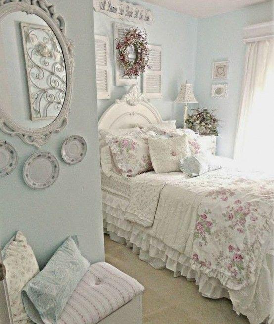 33 Cute Shabby Chic Bedroom Decor Ideas - DigsDigs |  Shabby chic.