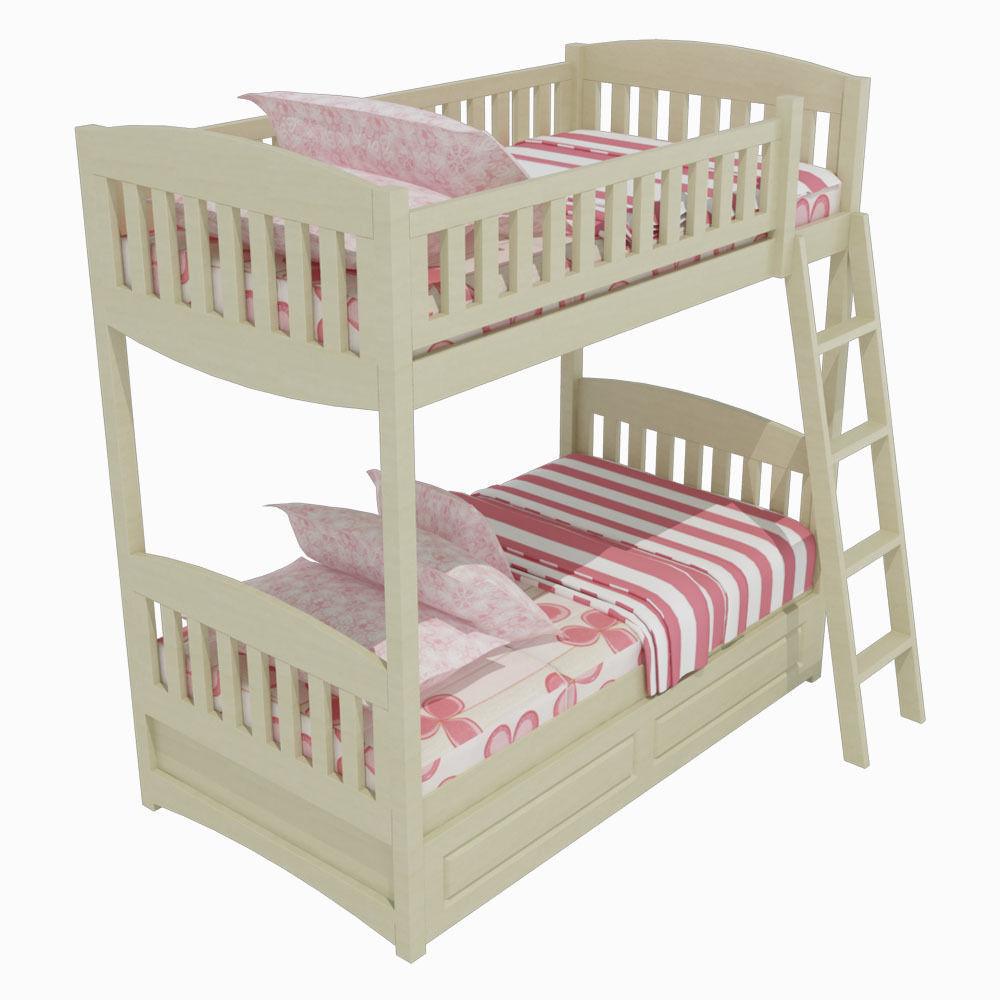 Children's bed 04 3D model max obj 3ds fbx 1 ... UVZAQUF