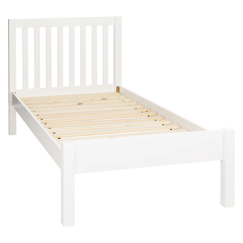 Children's bed buyjohn lewis wilton child compliant bed frame, single, white online at VKLNCME