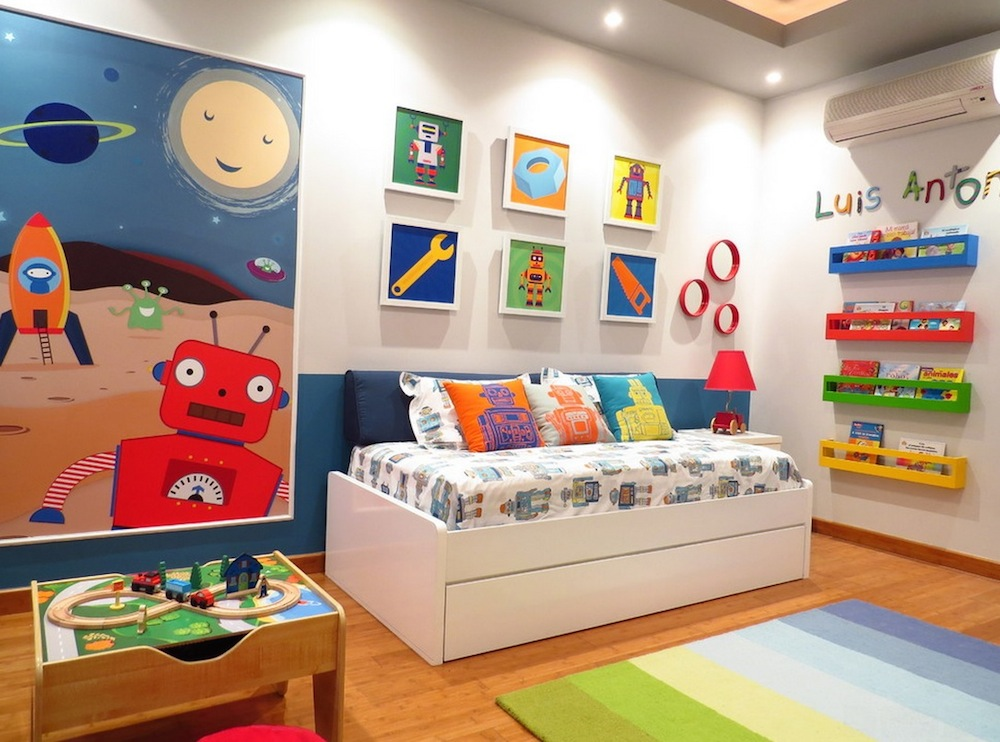 Children's bed colorful IPAYNLX
