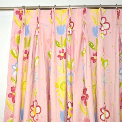 Children's curtain pinch pleated curtain heading on finished children's curtains for children's rooms UDZQEZC