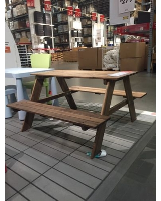 childrenu0027s picnic table, Ikea Reso, acacia wood small outdoor table for children UDSYFBW