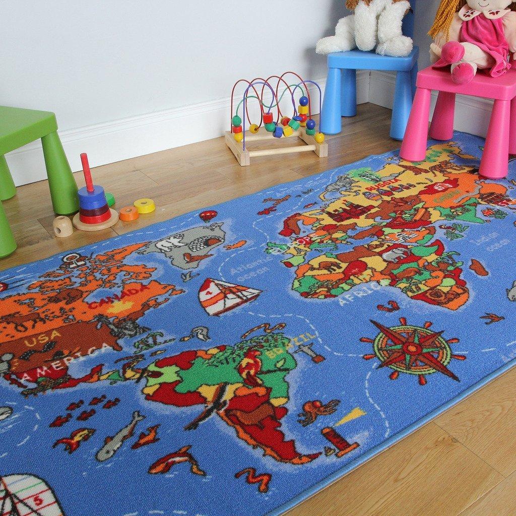 Children's rugs, blue Children's rugs, color SRJBUFX