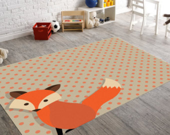 Children's carpets Fox carpet, forest kindergarten, forest carpet, children's carpet, children's room carpet, playroom carpet, IDEVGNY