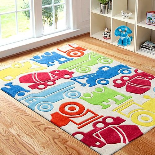 Children's carpets Children's carpet 115 x 165cm - Cars and trucks RHZHQRC