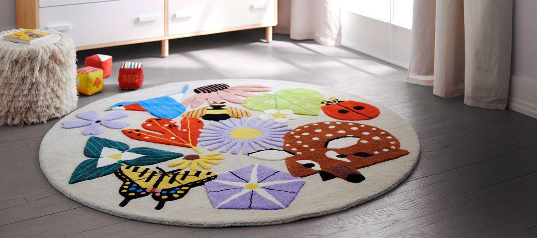 Children's carpet turquoise Children's carpet Children's floor carpets Children's carpet Cotton carpet for FEGBIXMIX