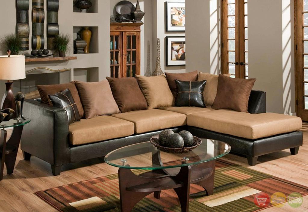 Chocolate brown microfiber sofa.  Jefferson BNEBJVH