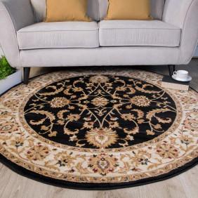 round rugs black dining room traditional round rugs - farhan GJTUMVZ