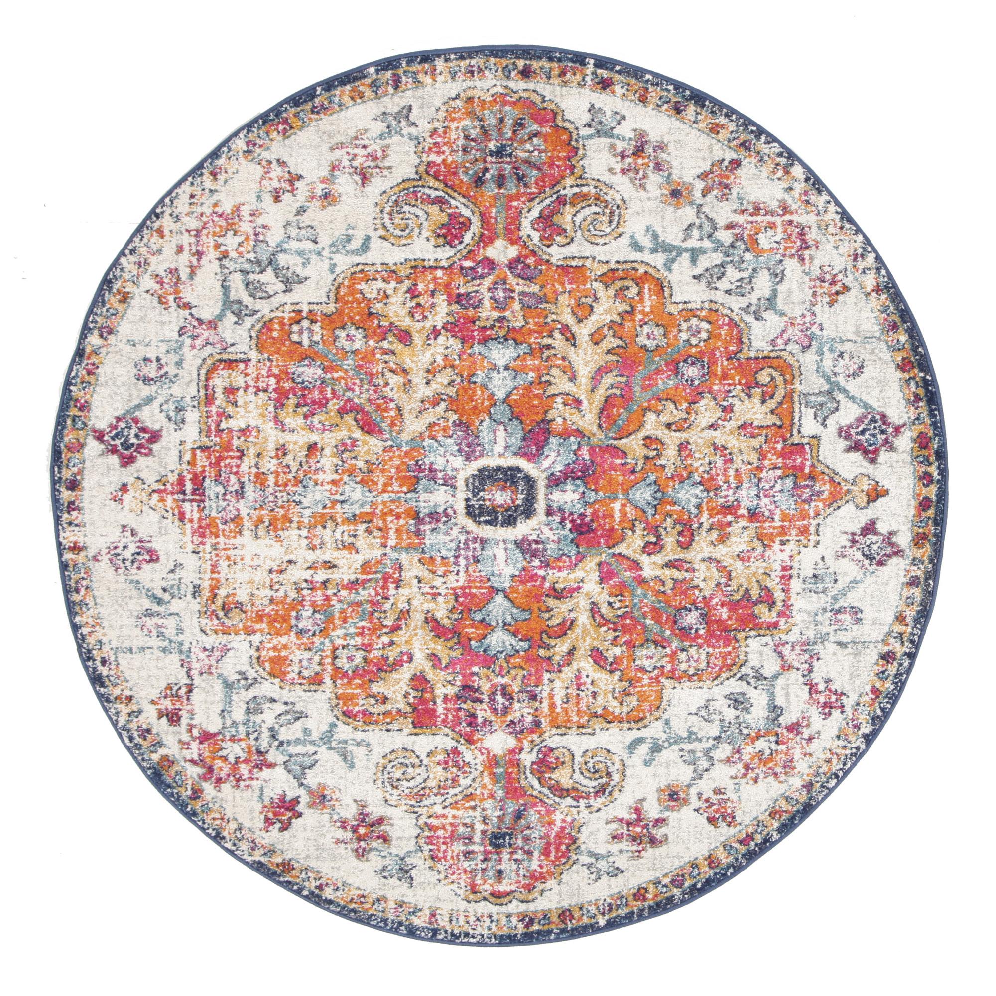 round carpets bone, white & round type modern grid carpet EGQBZDL