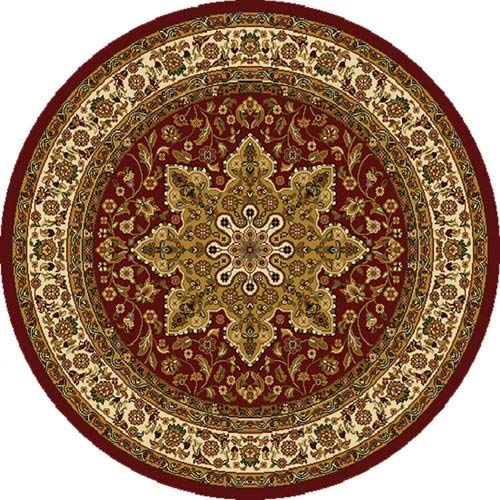 Round Rugs Home Dynamix Royalty 8083-200 red 5 ft 2 in. Round Traditional Carpet ZZMVXEV