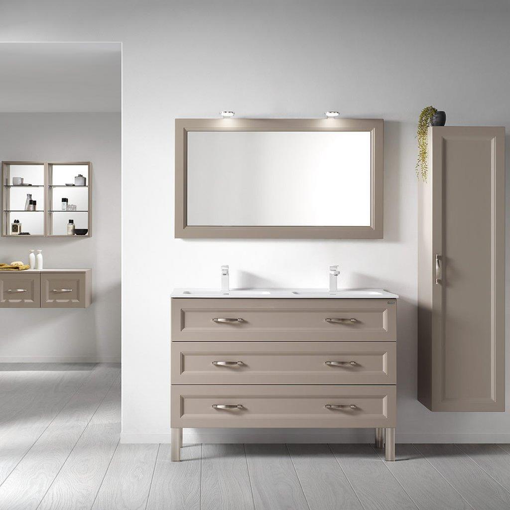 class bathroom vanities valenzuela class 48 inch framed bathroom mirror, wall bracket, mi - YPAAOOM