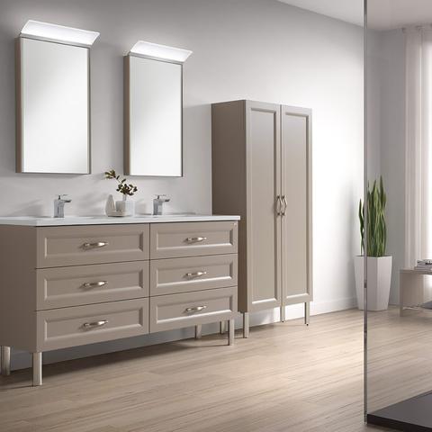 class bathroom washbasins valenzuela class mink double washbasin, 6 drawers with soft close, IBYKJWG
