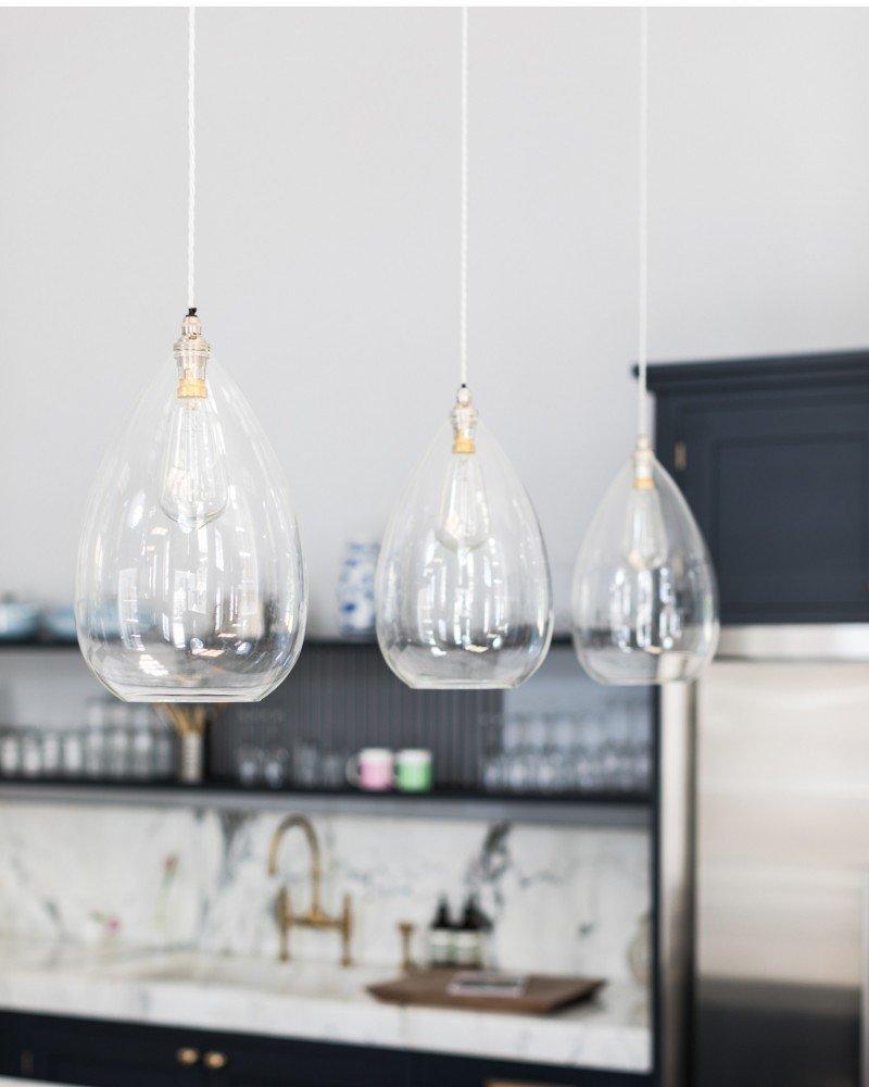 Clear glass pendant lights USSWKQT