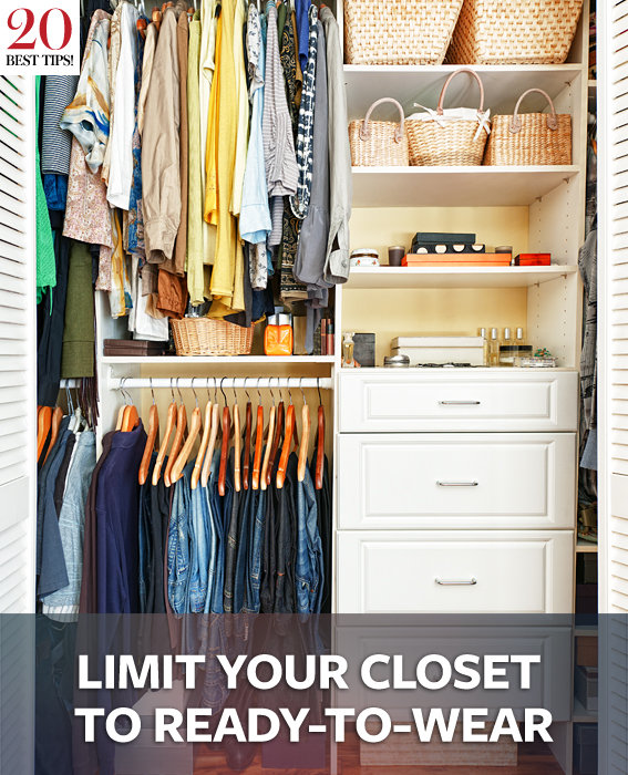 Organize your wardrobe 20 tips Order your wardrobe - limit your wardrobe to BRAFCAL ready-made goods