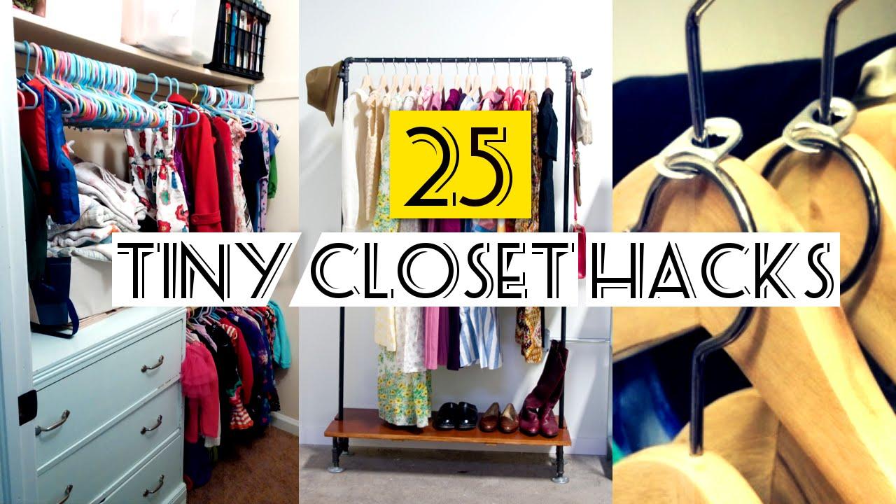 Organizing a closet 25 organizing small closet ideas - youtube YUMBROJ