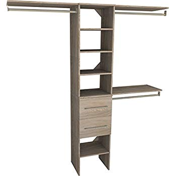 Closet Maid 1936 440 suitesymphony modern 16 inch closet organizer with shelves and 2 drawers, COTXXHQ