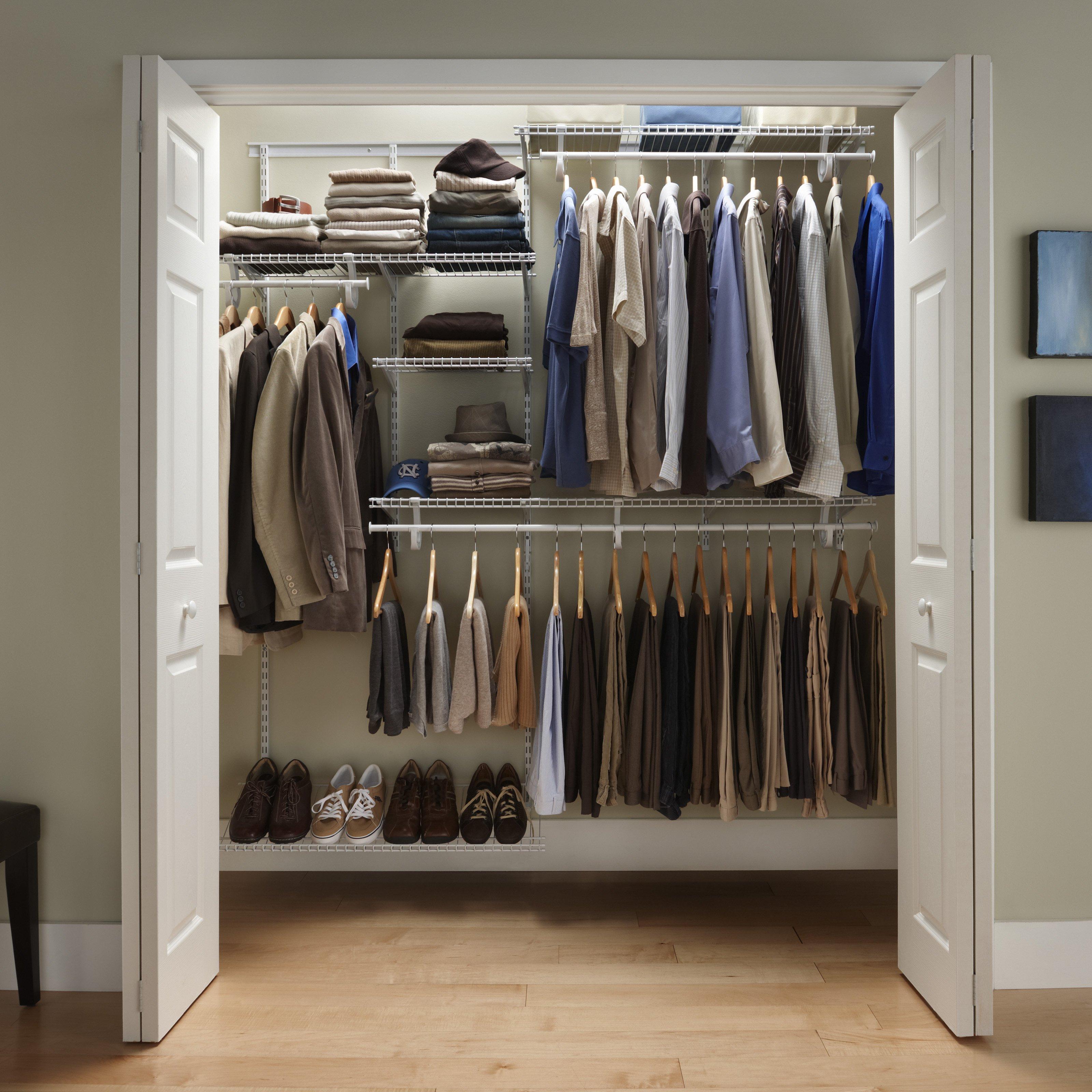Closetmaid Shelf Rail 5-8 Feet Closet Organizer Kit |  Hay needle FIBKPFR