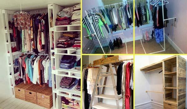 Clothes storage DIY closet ideas LDAWEGZ