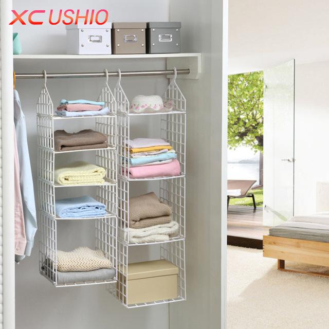 Clothes storage Foldable wardrobe Clothes underwear Clothes racks Hooks wall cupboard Plastic storage YWREMAG