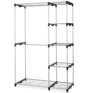 Clothes storage - Loading image - Closet-Organizer-Storage-Shelf-Portable-Hangers-Home- SLCUMLZ