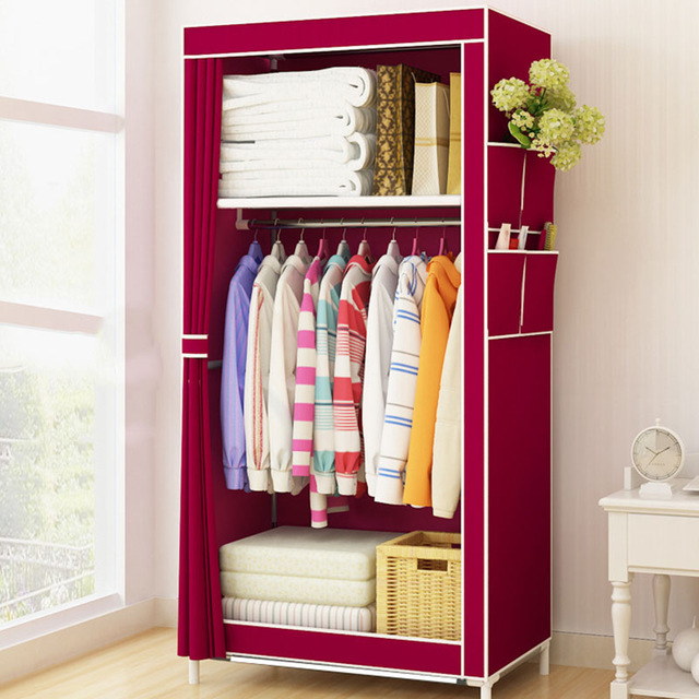 Clothes storage minimalist cloth wardrobe dorm single small cloth wardrobe foldable clothes YHLGAAW