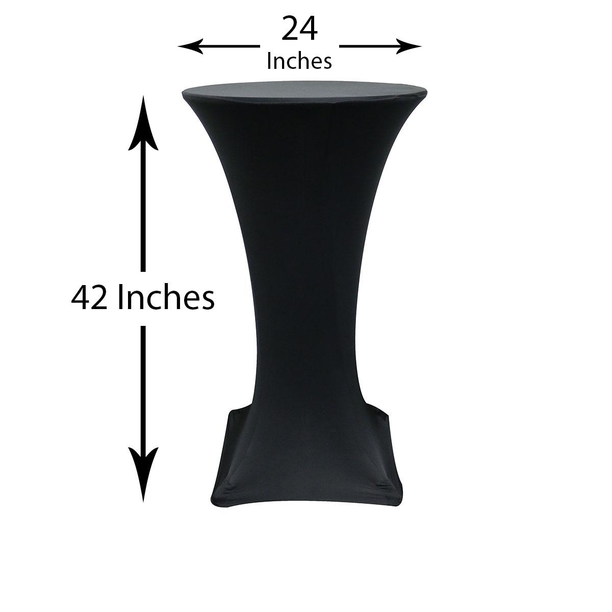 Cocktail tables 24-inch-highboy-cocktail-spandex-tablecloths-black- ... CZFOKOG