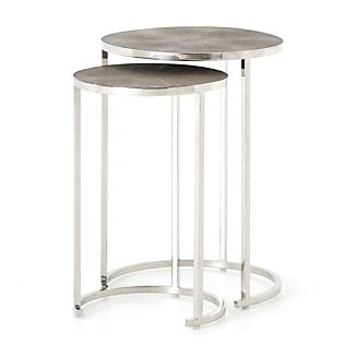 Cocktail tables Shagreen Nesting Accent tables stainless steel OZLQETA