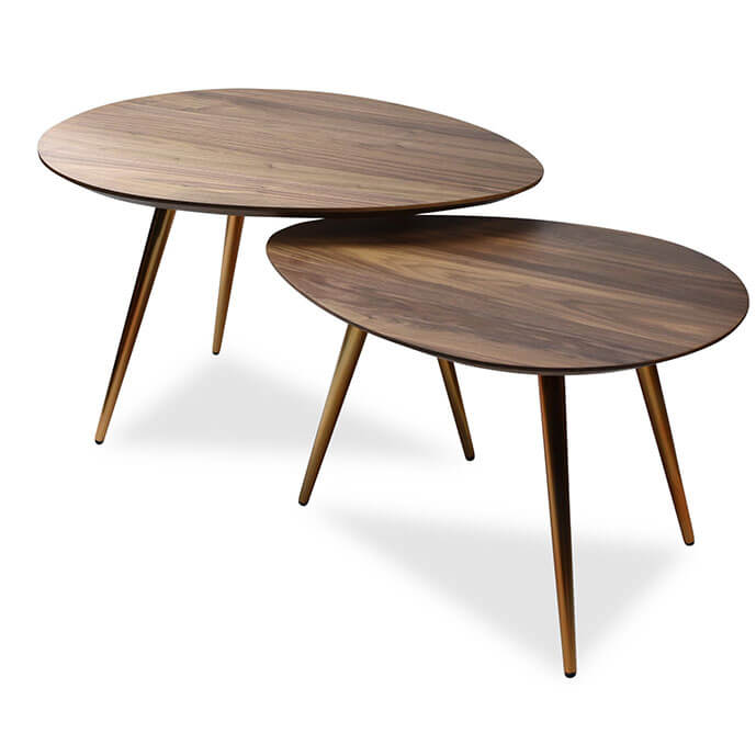 Coffee table sets maddox Mid-Century Modern Nesting coffee table set PDOUHYZ