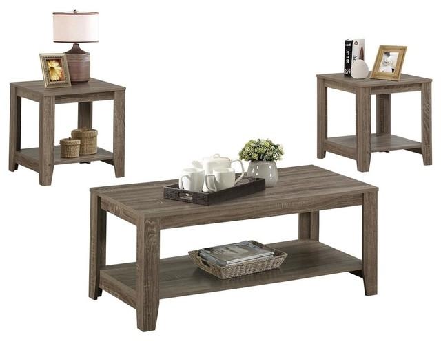 Coffee table sets, 3-piece placemat, dark taupe CVAJTRF