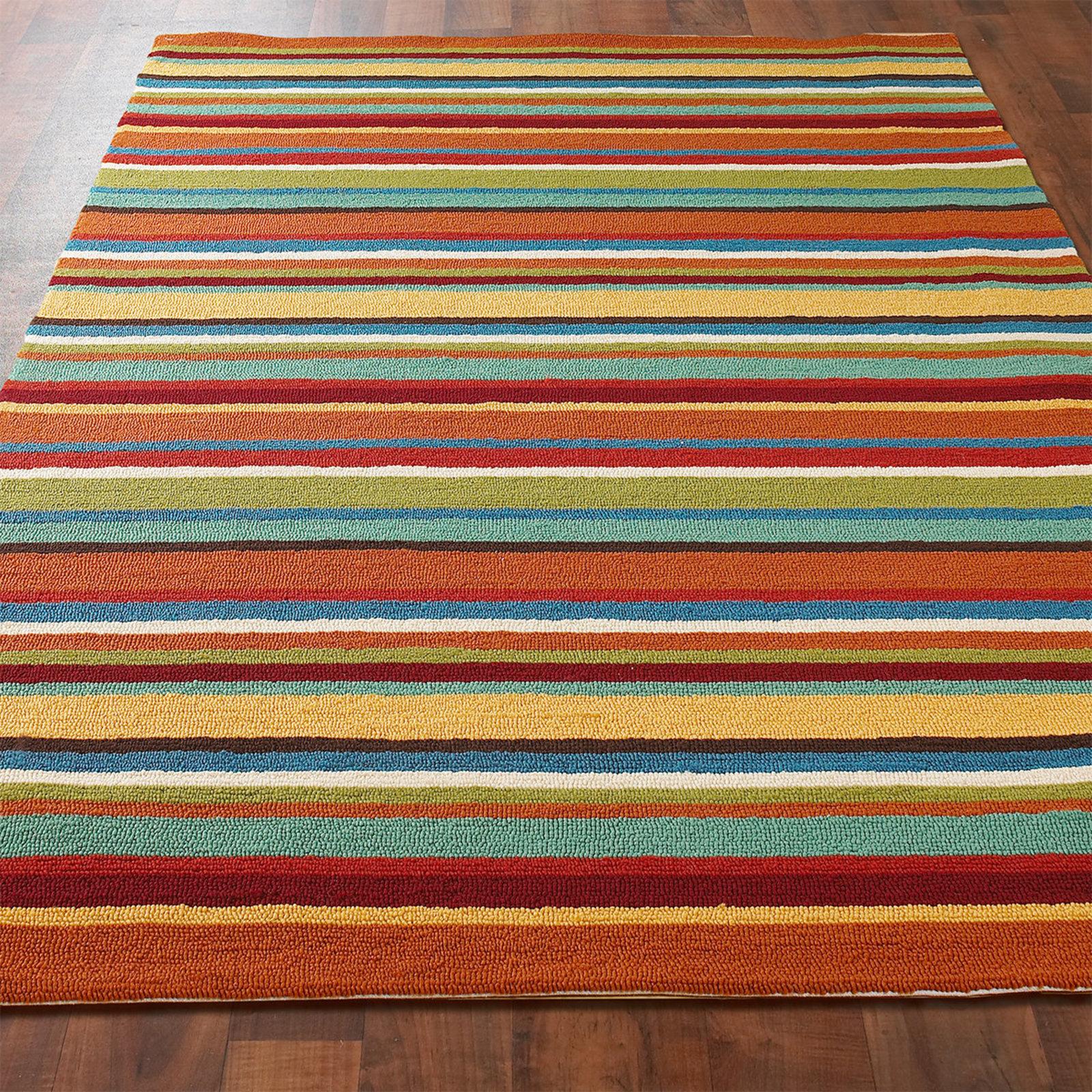 colorful rugs colorful stripes hooks indoor outdoor carpet multi QMJXXCO