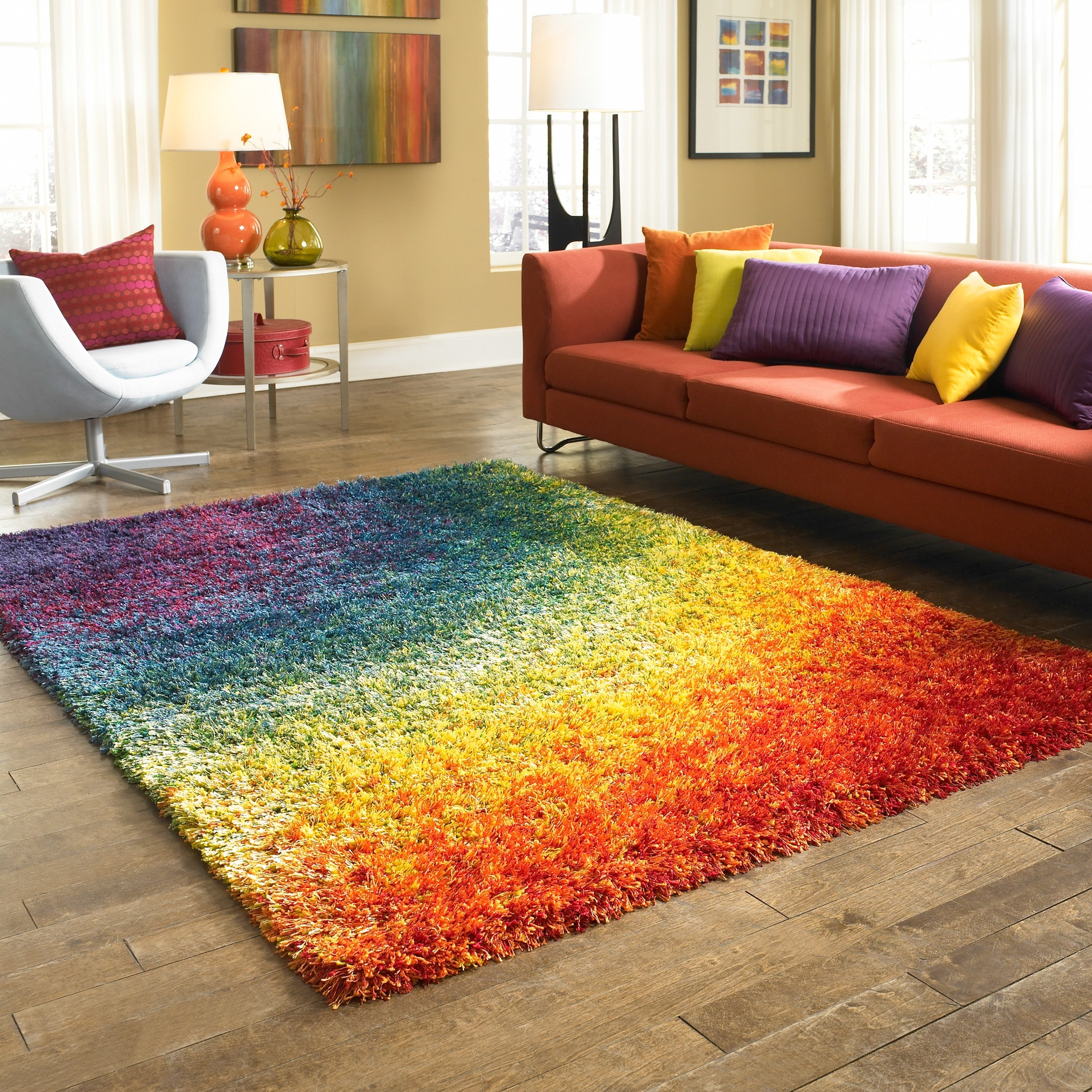 colorful carpets living room what size carpet under the franz.  bed simple design by LYVAPSL