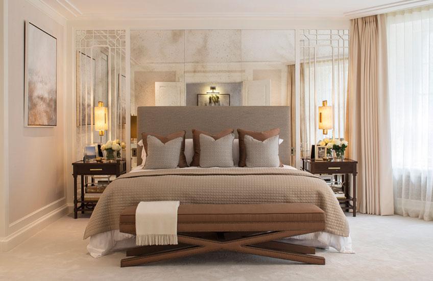 Color schemes of the bedrooms Luxdeco style guide EKADIQT