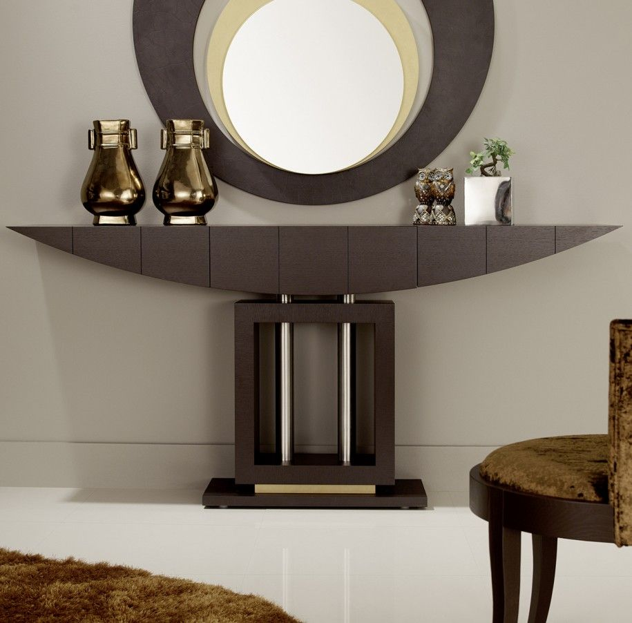 Modern console table Great hallway console table and mirror 29 via remodel modern console UKTBOPP
