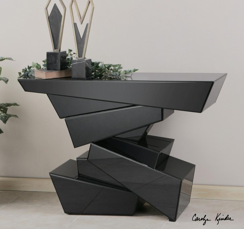 contemporary console table modern console table Canada best contemporary black ceramic Robinson lighting center EJIXIUQ