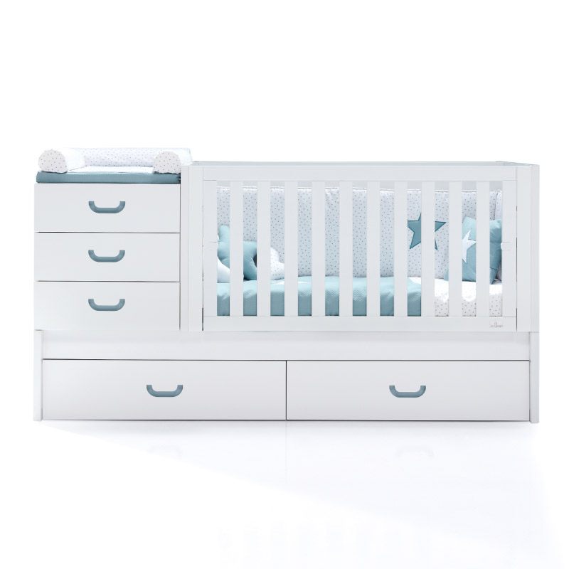 convertible baby bed Trends turquoise DVQRIXYRI