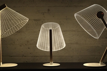 cool lamps the new light bulb collection uses lampshades that are really only 2d QXKNZDI