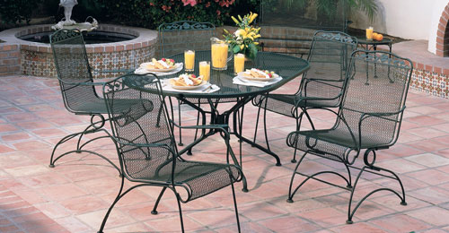cool wrought iron garden furniture Windflower wrought iron garden furniture VATEGTO