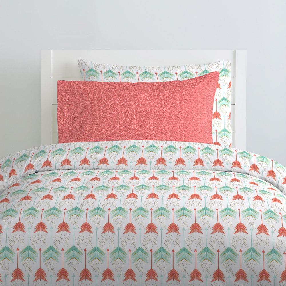 Children's bed linen coral and blue-green HTNKRBT