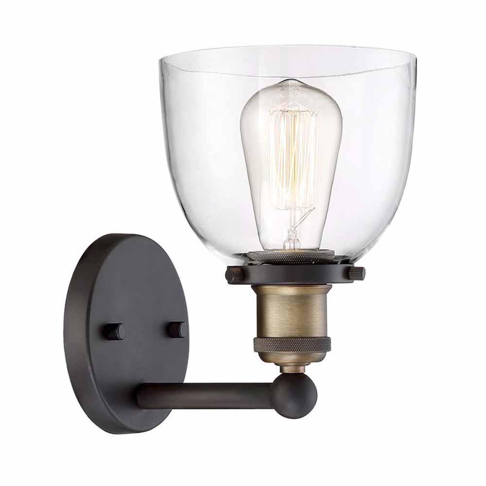 cordelia lighting 1-lamp Artisan bronze wall light ULLZXRC