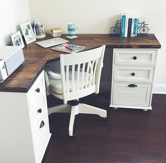 Corner desks adorn farmhouse corner desk by magnolia sandhardware on Etsy OTXUESH