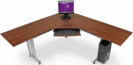 Corner desks ofm Rize L-shaped corner desk 55177 - cherry TRBHXJF