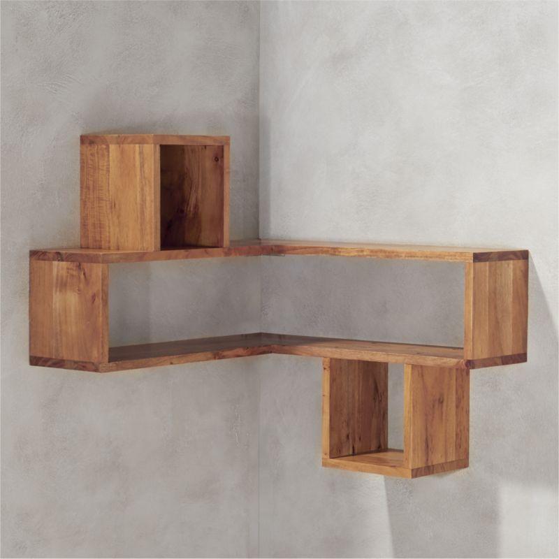 Corner shelf floating corner shelves |  cb2 UIPZDWZ