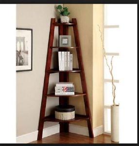 Loading corner shelf-picture corner shelf-stand-wood-5-shelves-display-storage-WWOSBDS