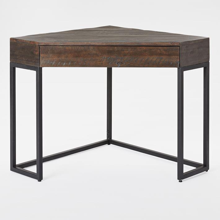 Corner table Logan industrial corner desk |  West Elm LUVDOJB