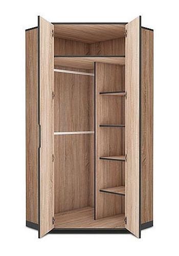 Corner wardrobe Flow in Sonoma oak 132cm QCOYNJZ