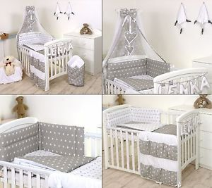 Cot bedding Image is loading gray-stars-baby bedding-set-cot-baby bed- AHVSIQL