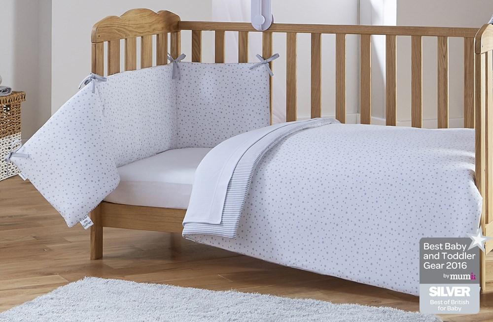 Children's bed linen ... stars and stripes gray ... HWYPRUA
