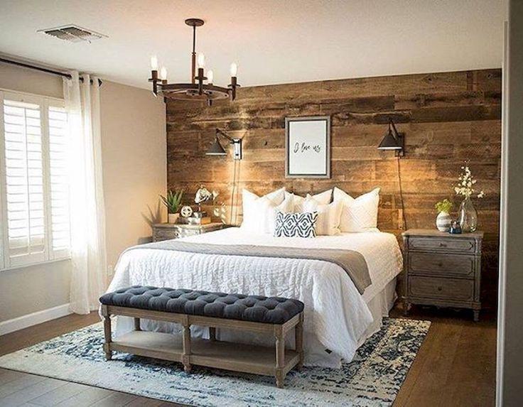 Gorgeous Rustic Cottage Bedroom Ideas (62) #BeddingMasterBedroom ...