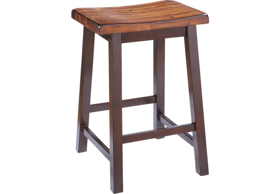 Counter stool adelson Chocolate Counter stool - bar stool dark wood PBMEWKG